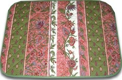 PLACE MAT MANOSQUE PINK AND GREEN