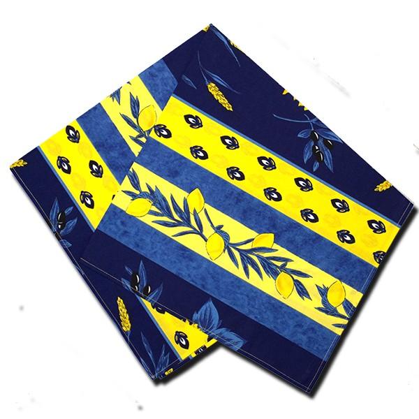 Napkins Uzes Blue and Yellow