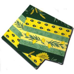 Napkins Uzes Green and Yellow