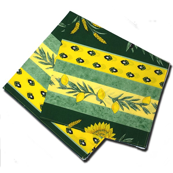 Napkins Uzes Green and Yellow