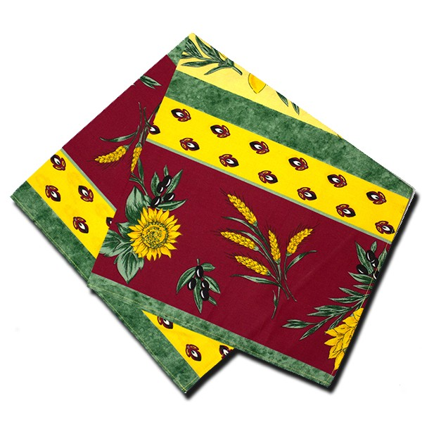 Napkins Uzes Red and Yellow