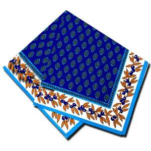 Napkins Gordes Blue and Turquoise