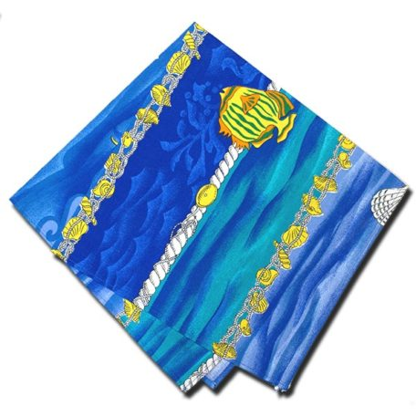 Napkins Atlantis Blue and Yellow
