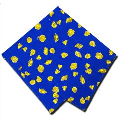 Napkins Shells Blue and Yellow