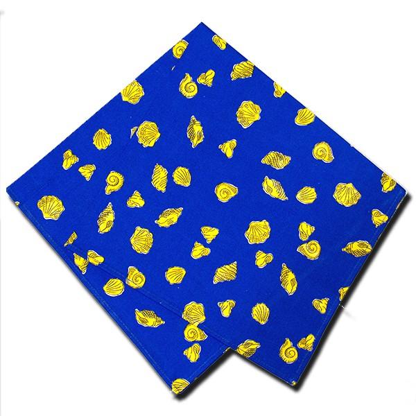 Napkins Shells Blue and Yellow