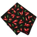 Napkins Chili Pepper Black