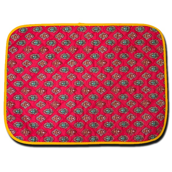 Placemat Manosque Red and Yellow (Backside)