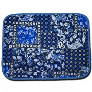 Placemat Royal Blue and Whie