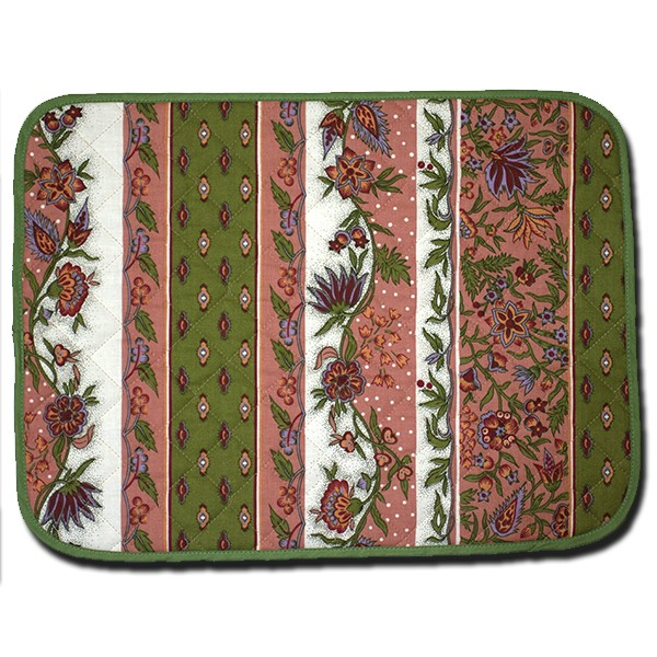 Placemat Manosque Pink and Green