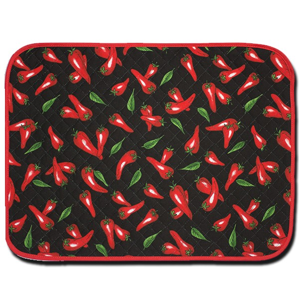 Placemat Chili Pepper Black