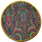 Placemat Manosque Round Green and Yellow