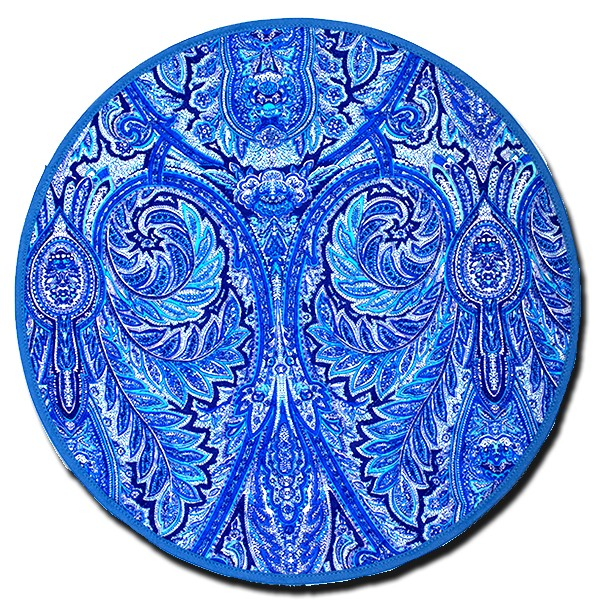 Placemat Round Manosque Blue and White
