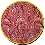Placemat Manosque Round Red and Yellow