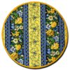 Placemat Round Royal Blue and Yellow