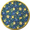Placemat Round Royal Blue and Yellow (Backside)