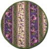 Placemat royal Pink and Green Round