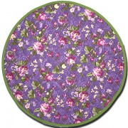 Placemat royal Pink and Green Round Back Side