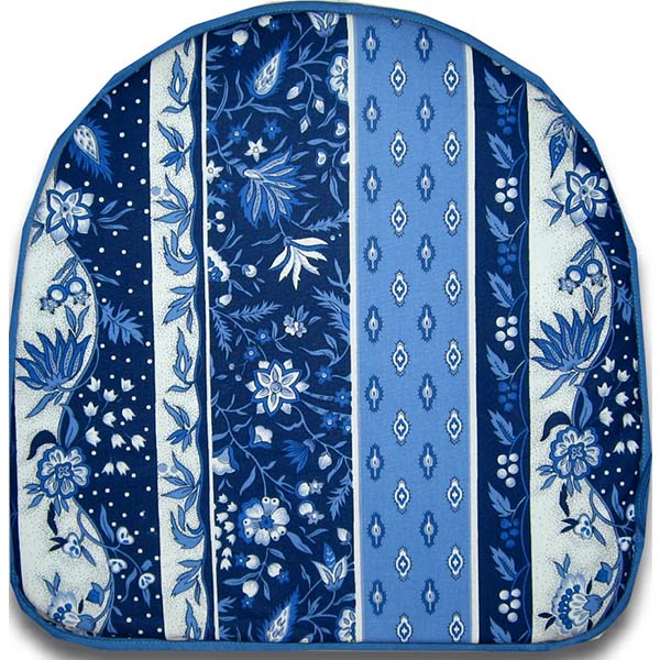 Chair Pad Manosque Blue & White