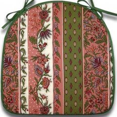 Chair Pad Manosque Pink & Green