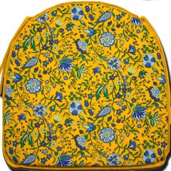Chair Pad Yvette Yellow Dome Shape