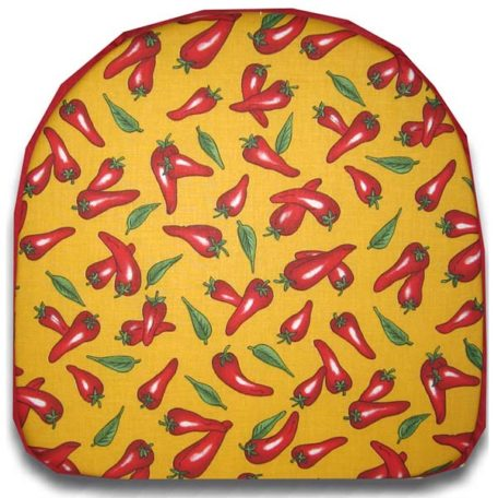 Chair Pad Chili Pepper Yellow