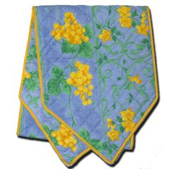 Table Runner Raisin blue