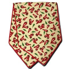 Chili Pepper Off White Table Runner