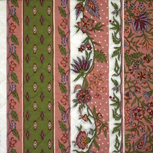 Quilted Fabric from Provence Design Manosque Pink and Green