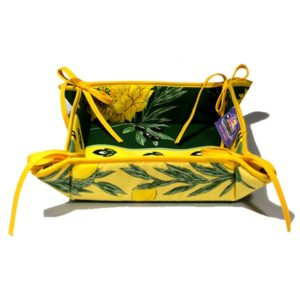 Uzes Bread Basket Green and Yellow