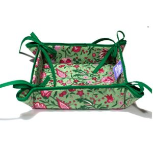 Yvette Bread Basket Green
