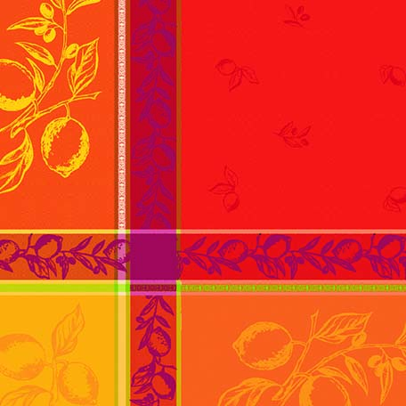 A Touch of Provence jacquard red