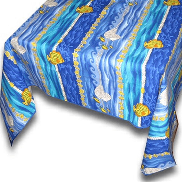 Table Cloth Atlantis Blue and Yellow