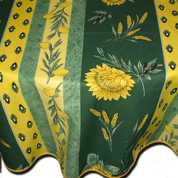 Table cloth Uzes Green and Yellow