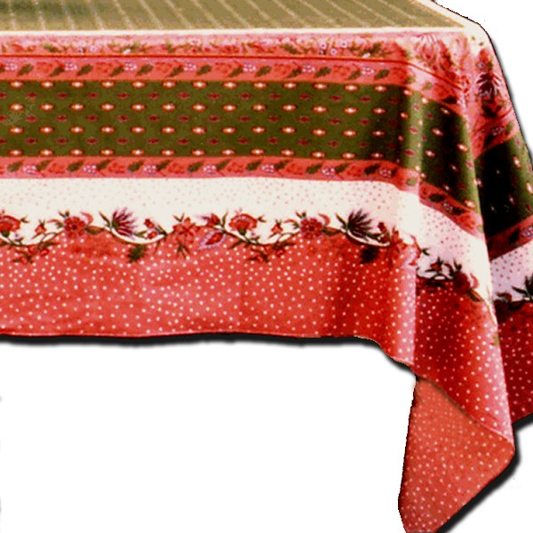 Table Cloth Manosque Pink and Green