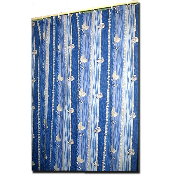 Shower Curtain Atlantis Blue and White