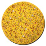 Placemat Yvette Round Yellow