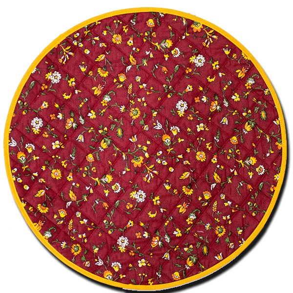 Placemat Yvette Round Red