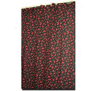 Shower Curtain Chili Pepper Black