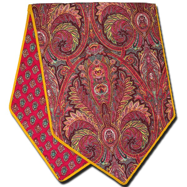 Table Runner Manosque Red and Yellow