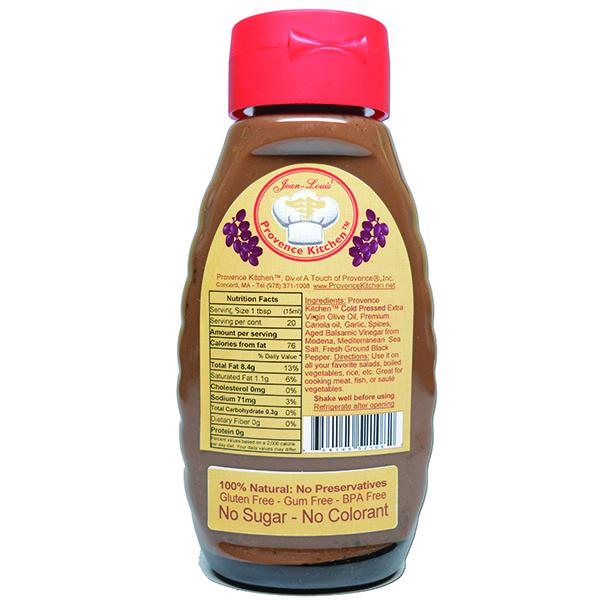 Vinaigrette All Natural Baslamic Vinegar from Modena Italy (Back Label)