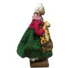 Santon from Provence - Woman with Garlic and Pink Shawl (Profile View)