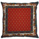 Pillow Case Manosque Blue and Red