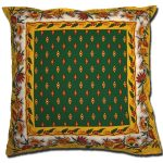 Pillow Case Manosque Green and Yellow