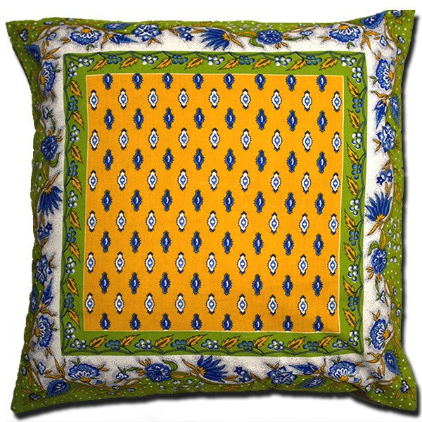 Pillow Case Manosque Yellow and Green