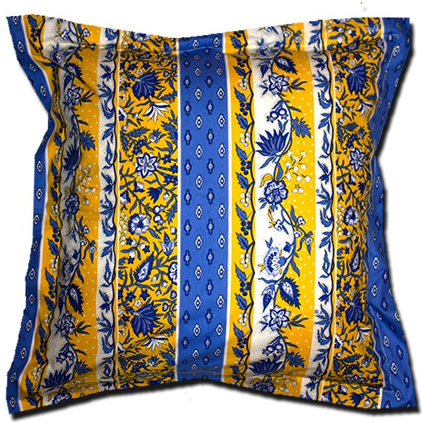 Pillow Case Manosque Blue and Yellow Extra Large