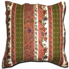Pillow Case Manosque Pink and Green Extra Large