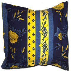 Pillow Case Uzes Blue and Yellow Extra Large