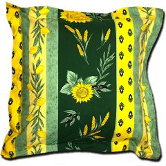 Pillow Case Uzes Green and Yellow Extra Large