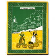 Dish Towel Provence Green and Yellow