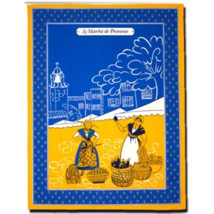 Dish Towel Provence Blue and Yellow